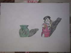 doodle of 2 candle pots