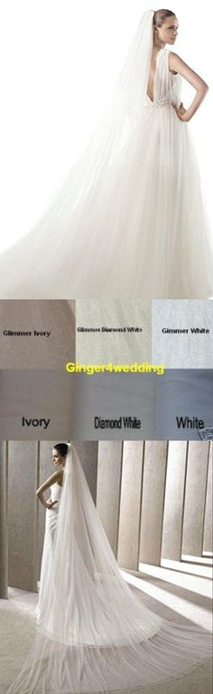 Shop Ginger Wedding Handmade Double Layer 2T Bridal Veil Cut Edge (Cathedral, White)