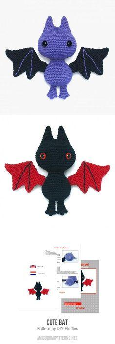 Cute Bat amigurumi pattern