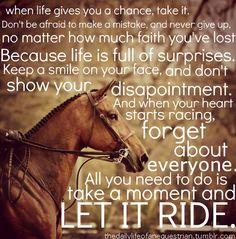 Let it ride!