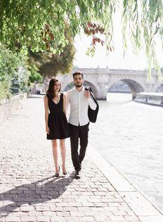 Black dress engagement pictures