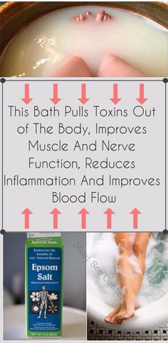 This Bath Pulls Toxins Out of The Body, Improves Muscle And Nerve Function, Reduces Inflammation And Improves Blood Flow - Must See Center
