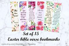 easter bible verses scripture cards bible bookmark scripture memory cards #easterbibleverses #biblebookmark #scripturememorycards Easter Bible Verses, Bible Verse Art, Scripture Cards, Scripture Study, Prayer Cards, Study Cards, Bible Bookmark, Verses For Cards, How To Make Bookmarks