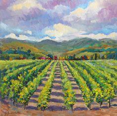 Original oil painting #California Vineyard #winery by J. Beaudet #art #impressionism