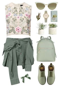 """""""Time for spring"""" by agonyfeelsgood ❤ liked on Polyvore featuring Needle & Thread, Faith Connexion, Fiorelli, Dr. Martens, Allstate Floral, Locman, Gucci, CO and Anne Klein"""