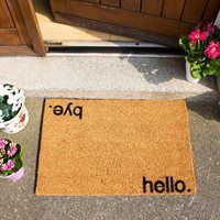 Artsy Doormats Hello Bye Door Mat