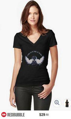 'Living for the Thrill of the Ride' V-Neck Tshirt Women #artyurte