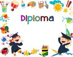 DİPLOMA ÖRNEĞİ Orla Infantil, Graduation Templates, Free Printable Stationery, Kids Library, Award Certificates, Kindergarten Graduation, School Decorations, Graduation Gifts, Teaching