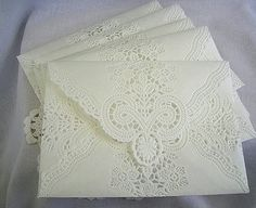 Lace envelopes