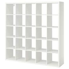 IKEA - KALLAX, Shelf unit, white, Different wall materials require different types of fasteners. Use fasteners suitable for the walls in your home. Two people are needed to assemble this furniture. Hardware for wall mounting included. Ikea Kallax Shelving, Kallax Shelving Unit, Ikea Kallax Regal, Ikea Shelves, Wall Shelves, Tv Storage Unit, Cube Storage, Cube Organizer, Drawer Unit