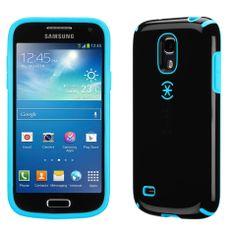 Samsung Galaxy S4 mini case. sleek black with peacock blue. sooooo pretty.