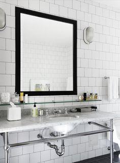 Marmor Weisser Marmor, Metro Fliesen, Altbau, Gäste Wc, Badezimmer,  Badezimmer Mit
