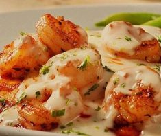 Seared Cajun Shrimp with Creamy Lemon Butter Sauce