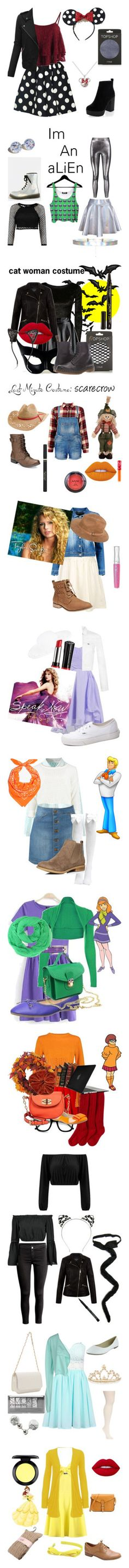 """halloween costumes"" by dinosawus21 ❤ liked on Polyvore"