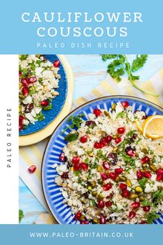 Cauliflower Couscous  #Paleo #recipe #food #keto #diet #CauliflowerCouscous
