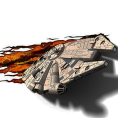 Millennium Falcon 3d Deco Light | Unusual Gifts