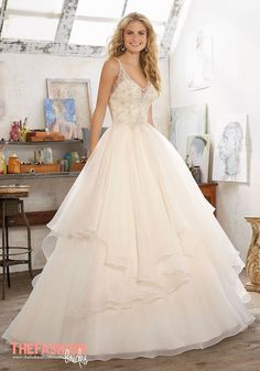 Romantic Bridal Ballgown Features Crystal Beaded Embroidery on Net with a  Billowy c456d0332937