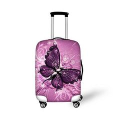 HUGS IDEA 18//20//22 Inch Art Flower Print Luggage Cover Protective Travel Elastic Trunk Case Covers