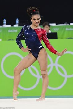 Glitzy: Team USA's gymnastic attire have been designed by sportswear giant Under Armour