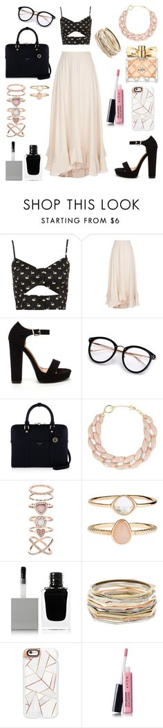 """""""Untitled #336"""" by angelicaaans ❤ liked on Polyvore featuring Chloé, Henri Bendel, DIANA BROUSSARD, Accessorize, Givenchy, Kendra Scott, Casetify and Avon"""