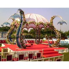 Mandap Decoration | Marriage Mandap Decoration Flowers Pic #22