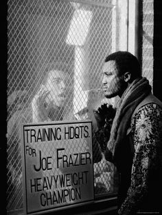 Muhammad Ali Taunting Joe Frazier During Training for Their Fight. Photo taken by John Shearer