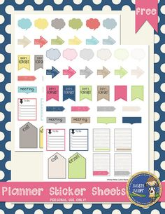 Free Planner Sticker Sheets