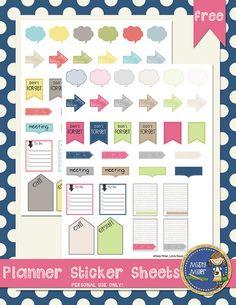 Free Planner Sticker Sheets
