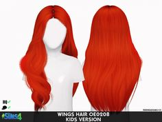 WINGS HAIR OE0208 KIDS VERSION at REDHEADSIMS – Coupure Electrique • Sims 4 Updates
