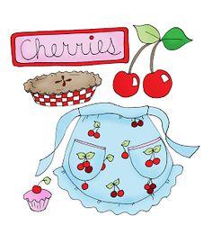Free Dearie Dolls Digi Stamps: Cherries
