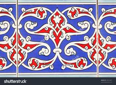 Photo about Decorative turkish tiles on a wall. Image of abstract, mosaics, flowers - 9698482 Motifs Islamiques, Islamic Motifs, Islamic Tiles, Islamic Patterns, Islamic Art, Turkish Tiles, Turkey Art, Bohemian Pattern, Tile Art