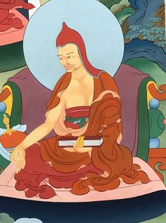 Arya Vimuktisena (Tib. འཕགས་པ་རྣམ་གྲོལ་སྡེ་, Pakpa Namdroldé) (6th C.) is the author of the earliest commentary on the Abhisamayalankara, which relates it to the text of the Perfection of Wisdom Sutra in Twenty-five Thousand Lines.  #ColoringForMeditation #TibetanArt #TibetanColoring #Thangka #BuddhistArt #BuddhistColoring