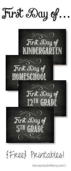 """Back At It Again - with {free} download for your """"First Day of School"""" Photos #HSMama #homeschool #back2school #firstdayofschool"""