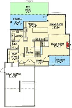 Modern Living With Private Master Suite Patio - 81647AB   Architectural Designs - House Plans