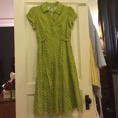 One Of A Kind Bright Green With Dots Dress!