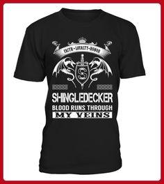 SHINGLEDECKER Blood Runs Through My Veins - Shirts für singles (*Partner-Link)