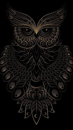 Coruja Arte VitralYou can find Owl art and more on our website. Owl Wallpaper Iphone, Dark Wallpaper, Cellphone Wallpaper, Owl Tattoo Drawings, Art Drawings, Tattoo Art, Art Buddha, Owl Artwork, Owl Tattoo Design