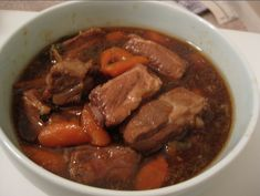 Not quiet my mother's recipe, as she doesn't ever USE recipes, but my rendition of a childhood favorite: 紅燒排骨 (Hong Shao Pai Gu) INGREDIENTS: 3 lb pork spare ribs 1 lb carrots, diced in…