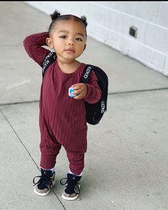Cute Mixed Babies, Cute Black Babies, Beautiful Black Babies, Cute Babies, Little Girl Swag, Cute Little Girls Outfits, Kids Outfits, Baby Outfits, Baby Girl Fashion
