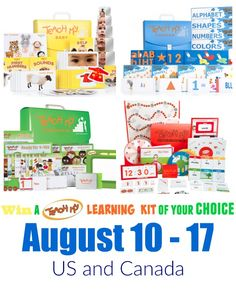 Enter for a chance to win a Teach My learning kit of your choice! Aug. 18-17 2016. US and CA