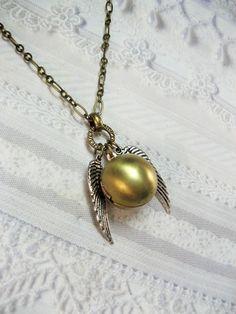 Golden Snitch locket #Harrypotter