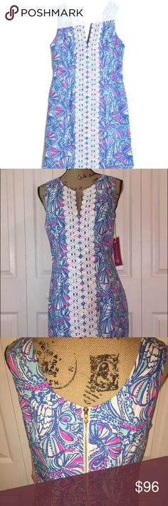 NWT Lilly Pulitzer My Fans Dress Size 14 Hard to find, this dress fits more like an 8/10 IMO. Bust is 36 inches and waist at widest point is 40 inches. Lilly Pulitzer Dresses Midi