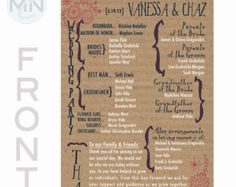 Programa de boda divertidos. Programa de boda de por MaKenzieNoelle