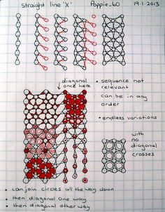 Straight Line X. Another way of drawing Pattern X by Lila Popcheff (Poppie_60).