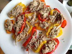 "Crockpot Carnitas on Red Pepper ""Nachos"""