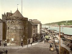 Reginald's Tower, Waterford City. Built in the beginning of the century this circular defensive tower is the only surviving building in Ireland that retains its original Viking name. Waterford City, Waterford Ireland, Castles In Ireland, Ireland Homes, Ireland Vacation, Ireland Travel, Old Pictures, Old Photos, Vintage Photos