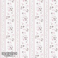 23-285337 Petite Fleur 3 Rasch Textil Blumen-Streifen hell-rosa