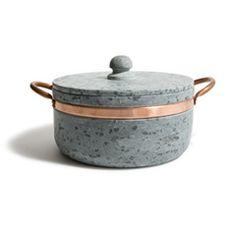 Soapstone & Copper Covered Pot (Medium)