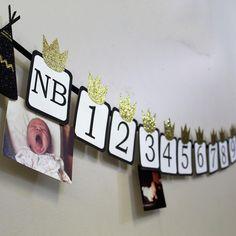 Photo Banner, Wild Ones, Baby Crafts, Etsy Shop, Boutique, Paper, Frame, Instagram, Decor