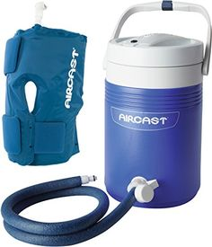 – An integrated approach to cold therapy that provides cold and focal compression using a non-motorized, gravity-fed system – Delivers chilled water directly into a Cryo/Cuff that is anatomically designed to provide maximum cryotherapy, eliminating the risk of tissue -damage – Gravity Cooler holds water and ice needed to provide 6 to 8 hours of cryotherapy; Compatible with all Cryo/Cuff and Arctic Flow pads – Ideal for minimizing hemarthrosis, swelling, managing pain... Click to read more…